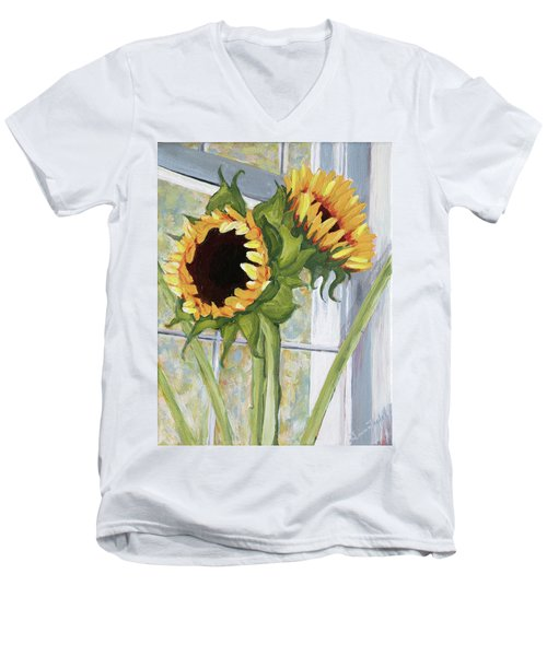 Indoor Sunflowers II Men's V-Neck T-Shirt