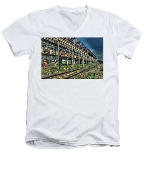 Industrial Archeology Railway Silos - Archeologia Industriale Silos Ferrovia Men's V-Neck T-Shirt