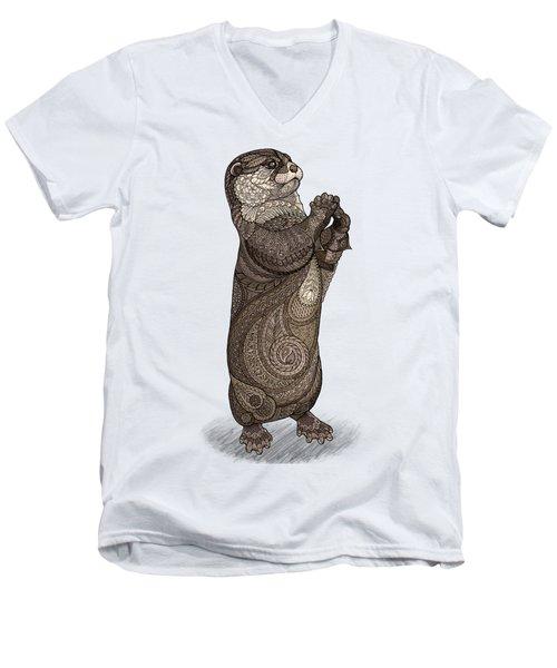 Infatuated Otter Men's V-Neck T-Shirt