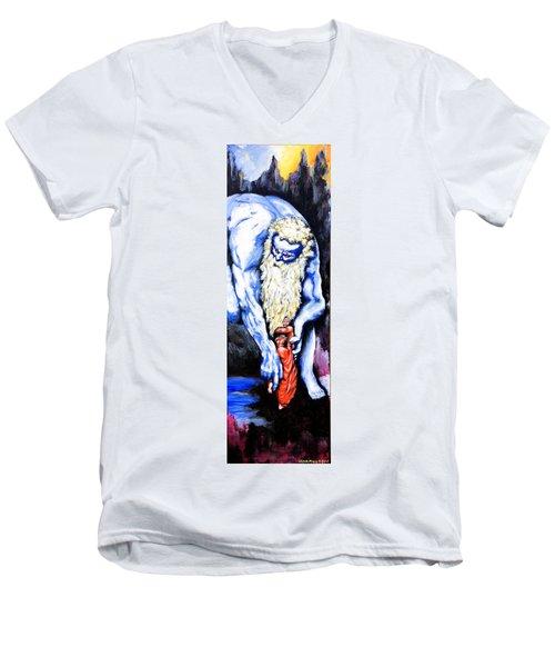 Inferno Men's V-Neck T-Shirt by Victor Minca