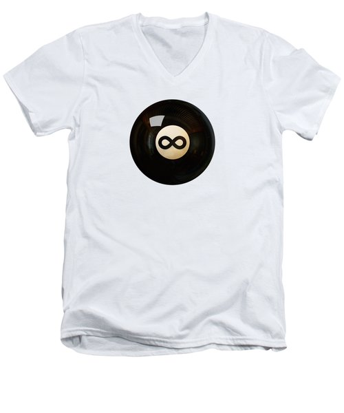 Infinity Ball Men's V-Neck T-Shirt by Nicholas Ely