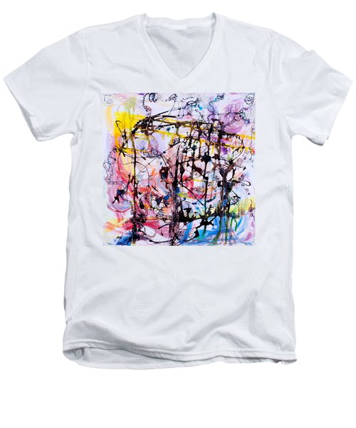 Information Network Men's V-Neck T-Shirt