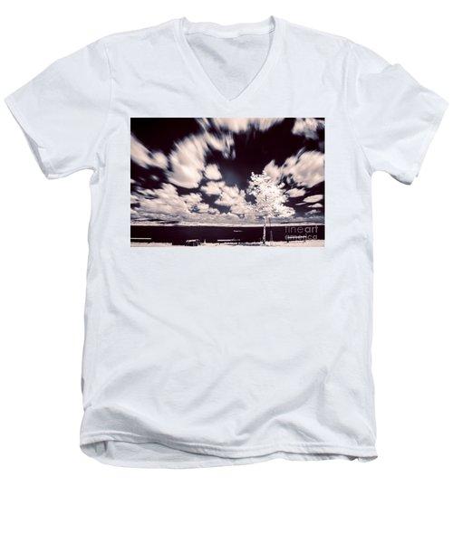 Infrared Lake Men's V-Neck T-Shirt