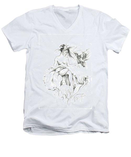 Inhabitants Of The Sky Realm Men's V-Neck T-Shirt by Anna Ewa Miarczynska