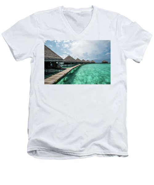 Men's V-Neck T-Shirt featuring the photograph Inhale by Hannes Cmarits