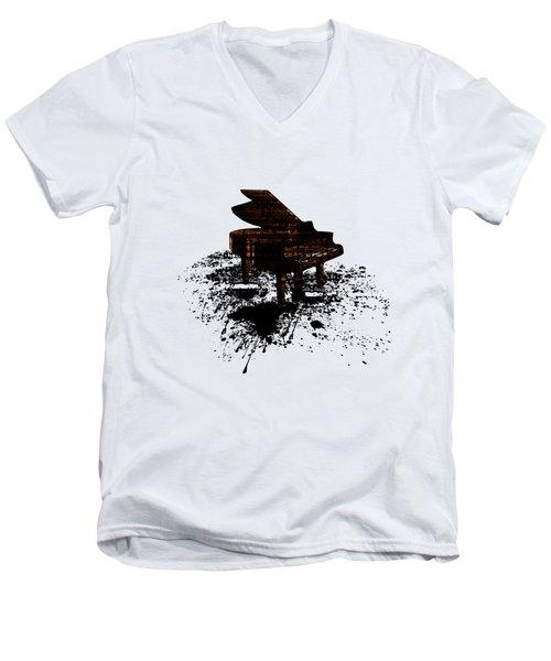Inked Gold Piano Men's V-Neck T-Shirt