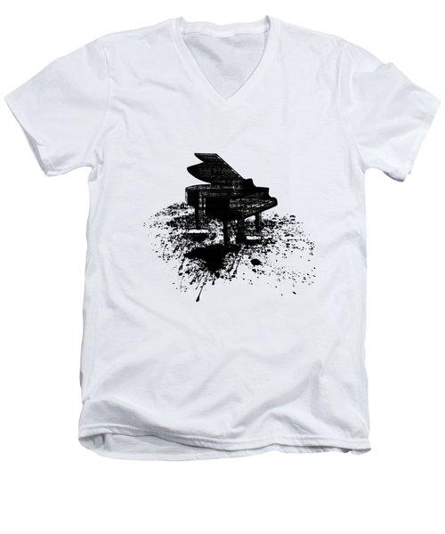 Inked Piano Men's V-Neck T-Shirt