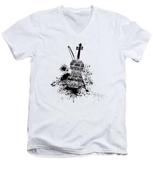 Inked Violin Men's V-Neck T-Shirt