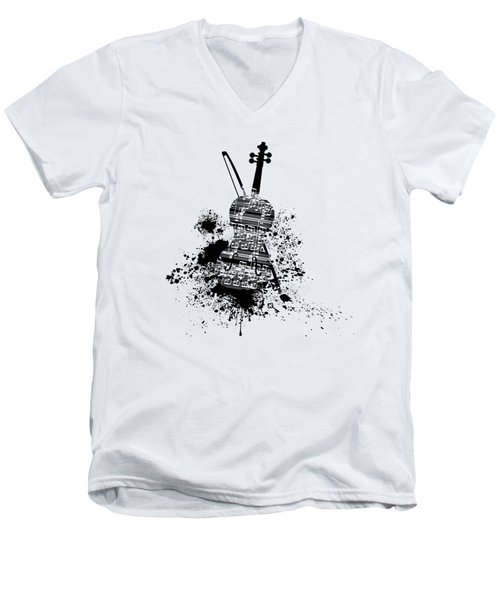 Inked Violin Men's V-Neck T-Shirt