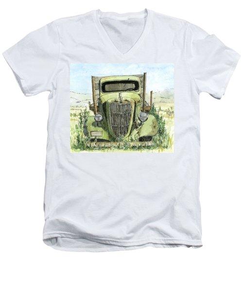 Inktober 2017 No 3 Clr Men's V-Neck T-Shirt
