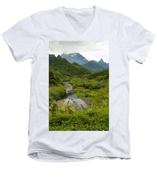 Inside The Crater Men's V-Neck T-Shirt