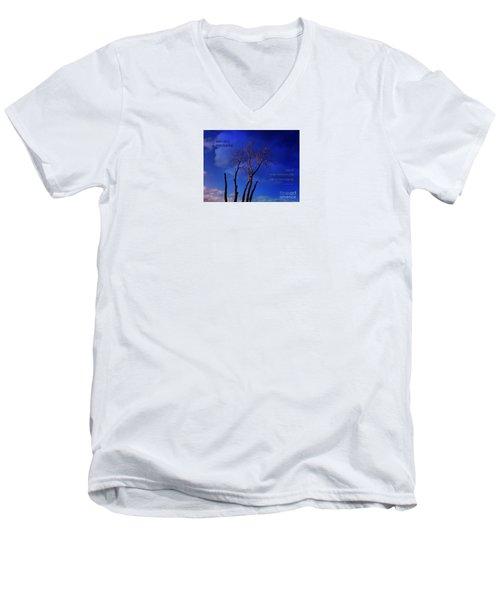 Inspiration Men's V-Neck T-Shirt by Dee Flouton