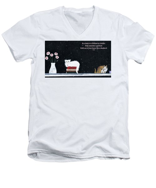 Inspiration Men's V-Neck T-Shirt by Rhonda McDougall