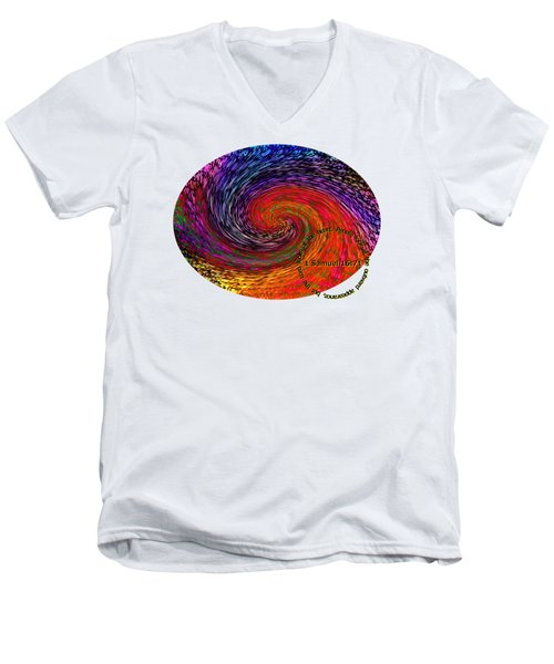 Inspirational - God Looks Upon The Heart Men's V-Neck T-Shirt