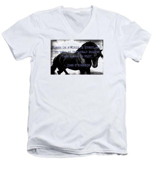 Inspirational Quote Men's V-Neck T-Shirt