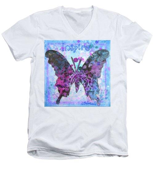 Inspire Butterfly Men's V-Neck T-Shirt