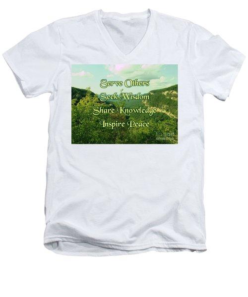 Inspire Peace Men's V-Neck T-Shirt