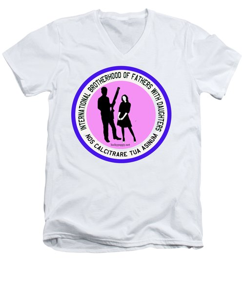 International Brotherhood Of Fathers With Daughters Men's V-Neck T-Shirt