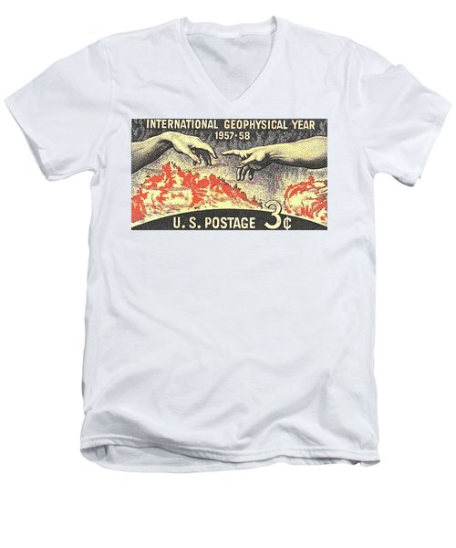 International Geophysical Year Stamp Men's V-Neck T-Shirt