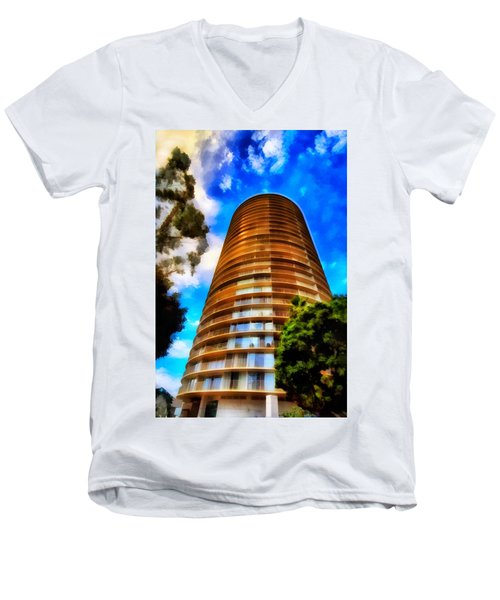 International Tower  Men's V-Neck T-Shirt by Joseph Hollingsworth