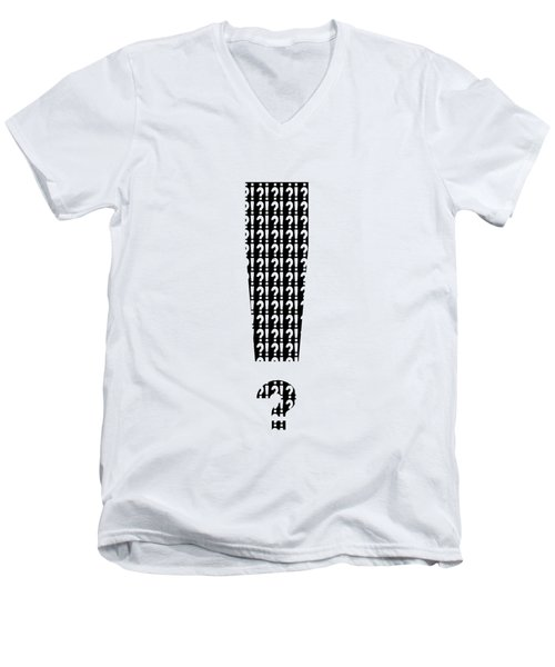Interrobang 3 Men's V-Neck T-Shirt by Brian Wallace