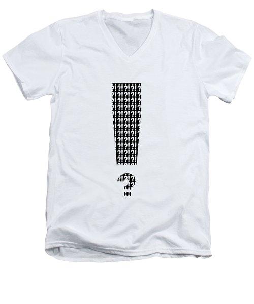 Interrobang 3 Men's V-Neck T-Shirt