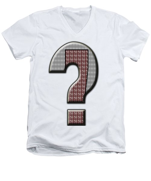 Interrobang 5 Men's V-Neck T-Shirt by Brian Wallace