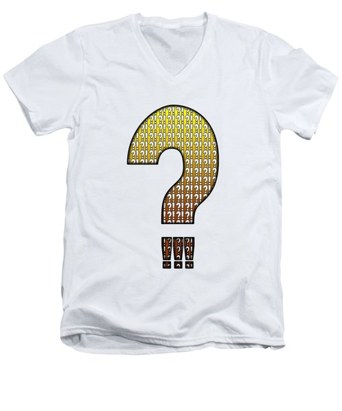 Interrobang Variation Men's V-Neck T-Shirt by Brian Wallace