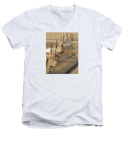 Intersection Men's V-Neck T-Shirt by Lynda Lehmann
