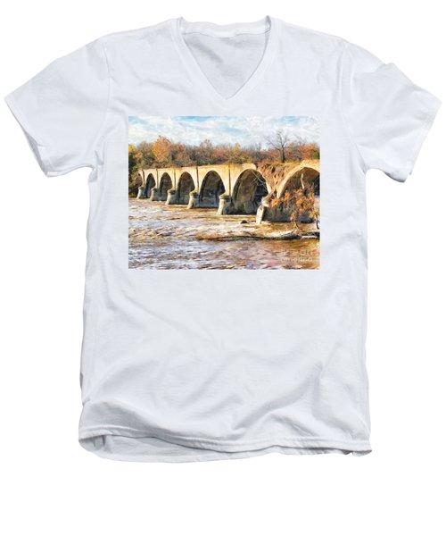Interurban Bridge Men's V-Neck T-Shirt