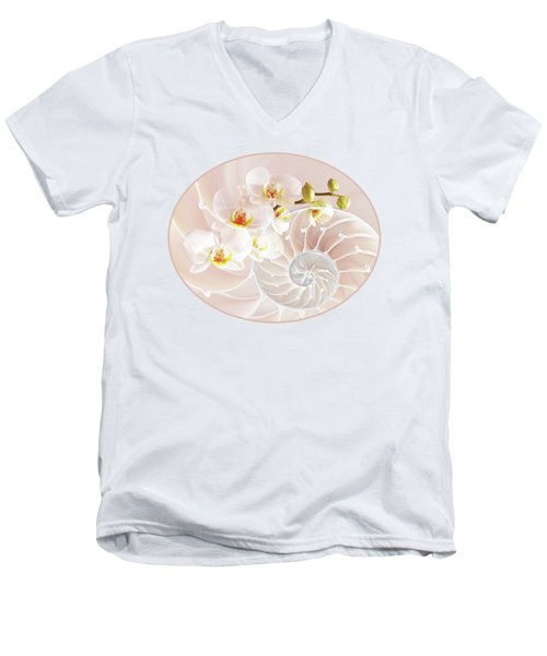 Intimate Fusion In Soft Pink Men's V-Neck T-Shirt