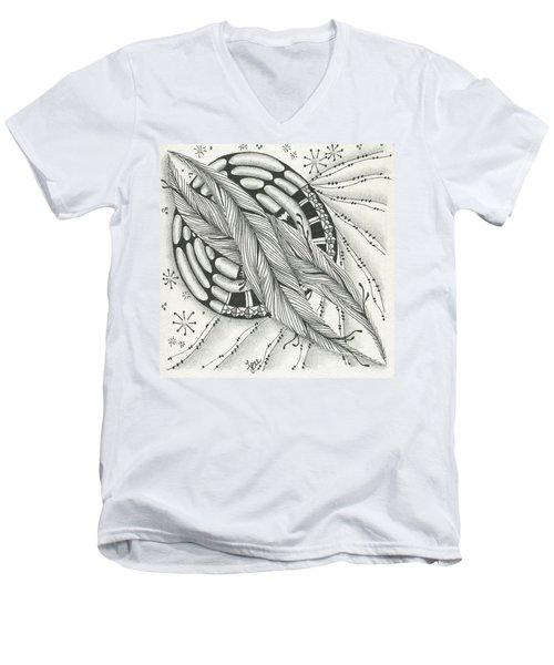 Into Orbit Men's V-Neck T-Shirt by Jan Steinle