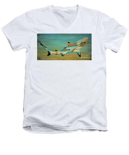 Into The Blue Shark Painting Men's V-Neck T-Shirt
