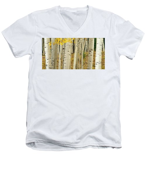 Men's V-Neck T-Shirt featuring the photograph Into The Forest by Gary Lengyel