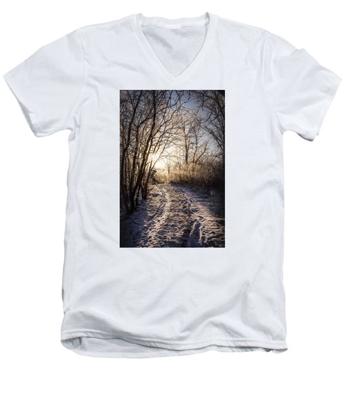 Men's V-Neck T-Shirt featuring the photograph Into The Light by Annette Berglund