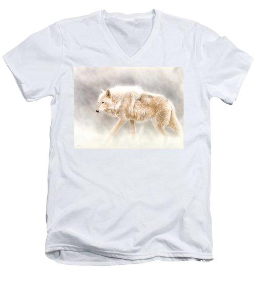 Into The Mist Men's V-Neck T-Shirt by Sandi Baker