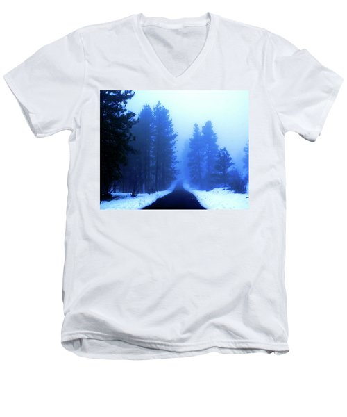 Into The Misty Unknown Men's V-Neck T-Shirt