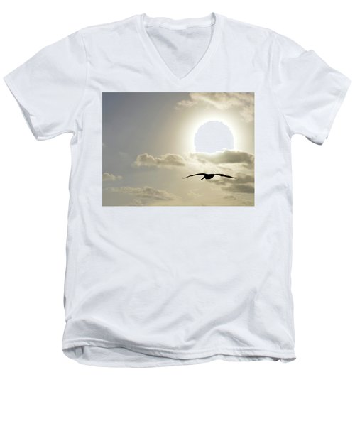 Men's V-Neck T-Shirt featuring the photograph Into The Sun by Sebastien Coursol