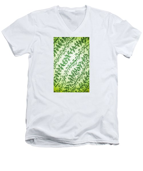 Into The Thick Of It, Green Men's V-Neck T-Shirt