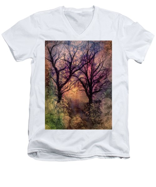 Into The Woods Men's V-Neck T-Shirt by Annette Berglund