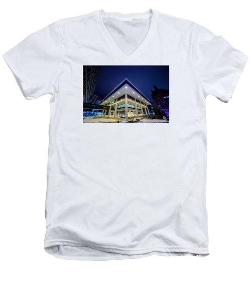 Inverted Pyramid Men's V-Neck T-Shirt by Randy Scherkenbach