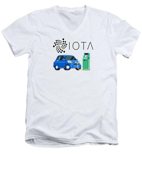 Iota Electric Charger Men's V-Neck T-Shirt