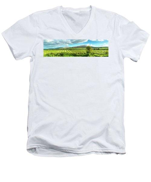 Ireland  - Burren Panorama Men's V-Neck T-Shirt by Juergen Klust