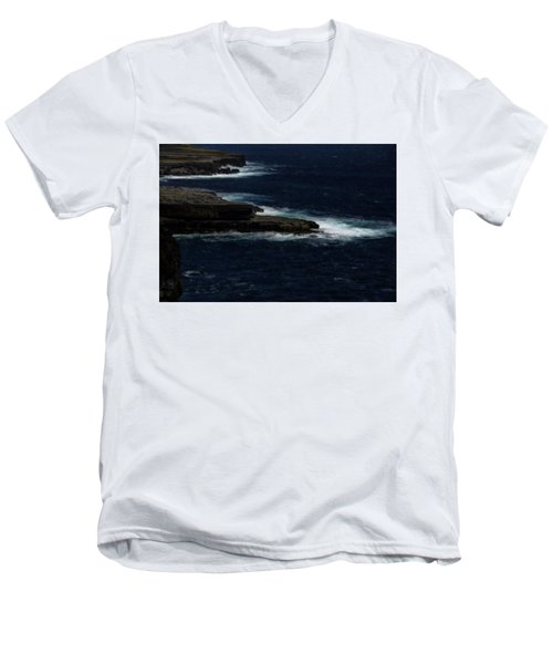 Ireland Inishmore Aran Island Coastal Landscape Men's V-Neck T-Shirt