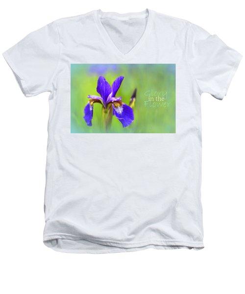 Iris Elegance Men's V-Neck T-Shirt