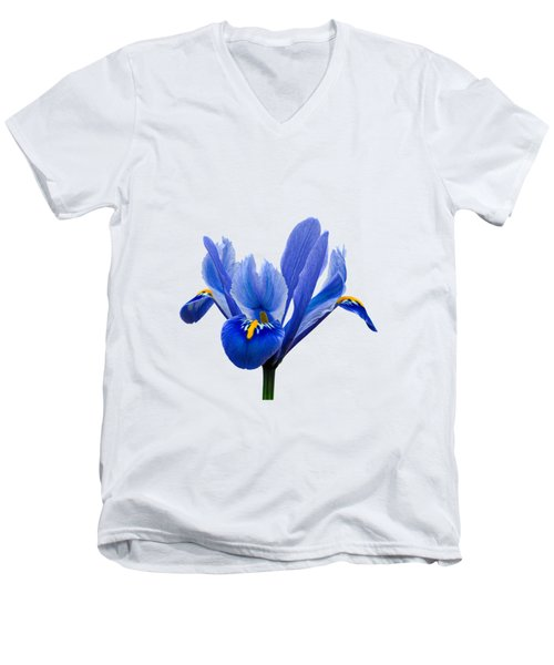 Iris Recticulata Transparent Background Men's V-Neck T-Shirt by Paul Gulliver