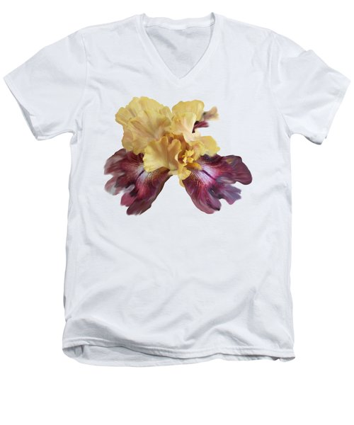 Iris T Shirt Men's V-Neck T-Shirt by Nancy Pauling