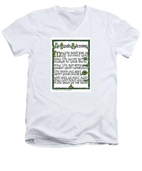 Irish Blessing Men's V-Neck T-Shirt