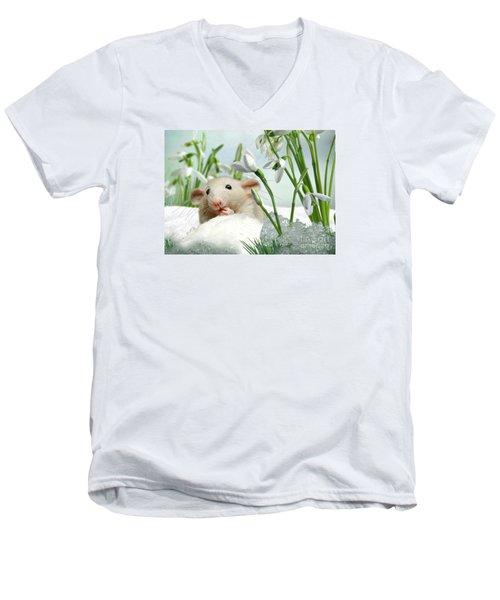 Is It Spring Yet ? Men's V-Neck T-Shirt by Morag Bates
