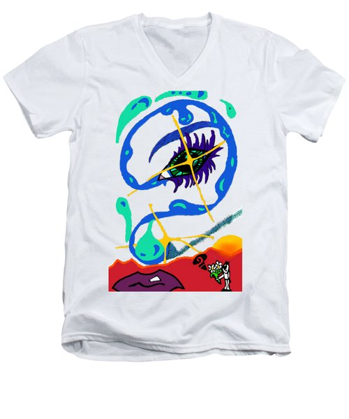 iseeU Men's V-Neck T-Shirt